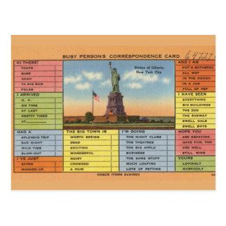 Statue of Liberty Joke Postcard
