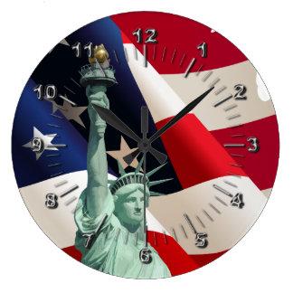 Statue of Liberty Large Clock