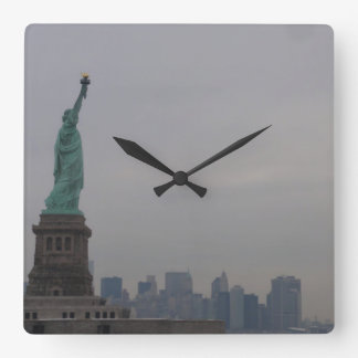 Statue of Liberty - New York City Square Wall Clock