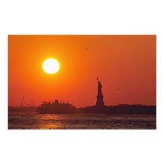 Statue of Liberty, New York Harbor, NY, USA, Photo Print