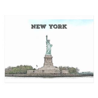 Statue of Liberty - New York Postcard