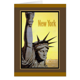 statue of liberty new york travel poster greeting cards