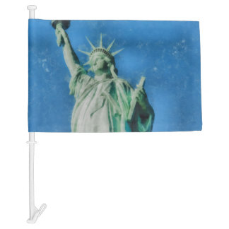 Statue of liberty, New York watercolors painting Car Flag