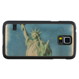 Statue of liberty, New York watercolors painting Carved Maple Galaxy S5 Case