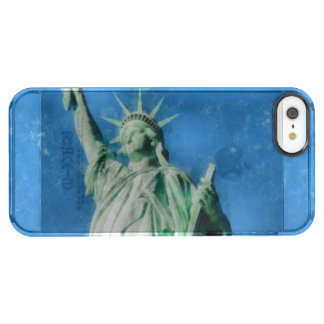 Statue of liberty, New York watercolors painting Clear iPhone SE/5/5s Case