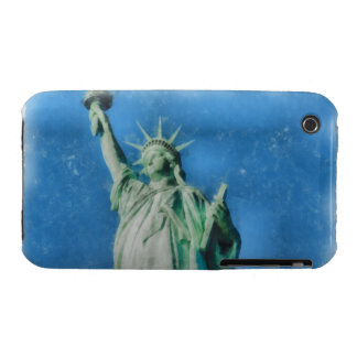 Statue of liberty, New York watercolors painting iPhone 3 Cases