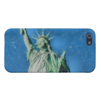 Statue of liberty, New York watercolors painting iPhone 5/5S Covers