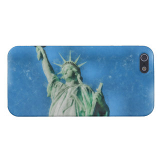 Statue of liberty, New York watercolors painting iPhone 5 Cases