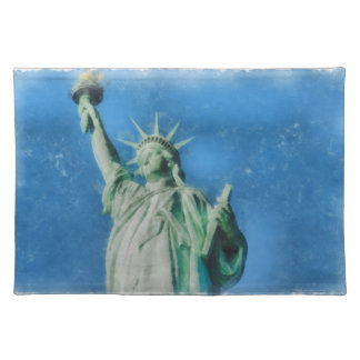 Statue of liberty, New York watercolors painting Placemat