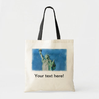 Statue of liberty, New York watercolors painting Tote Bag