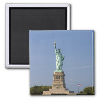 Statue of Liberty on Liberty Island in New Square Magnet