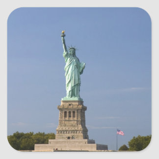 Statue of Liberty on Liberty Island in New Square Sticker