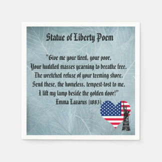 Statue of Liberty Poem Disposable Serviette