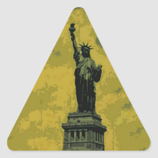 Statue of Liberty Pop Art Triangle Sticker