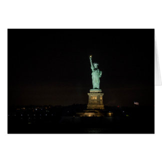 Statue of Liberty Pre-Dawn Card