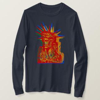 STATUE OF LIBERTY RAINBOW POP ART T-Shirt