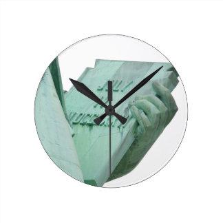 Statue-of-Liberty Round Clock