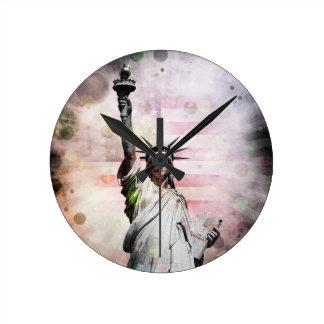 Statue of Liberty Round Clock