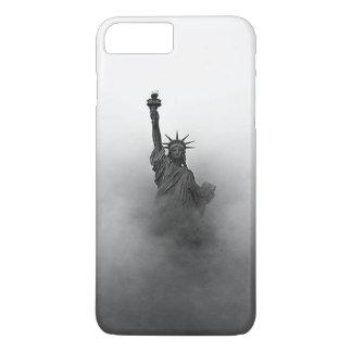 Statue of liberty shrouded in fog iPhone 8 plus/7 plus case