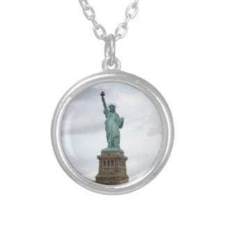 Statue of Liberty Silver Plated Necklace