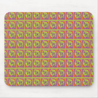 Statue of Liberty Stamps Collage Mouse Pad