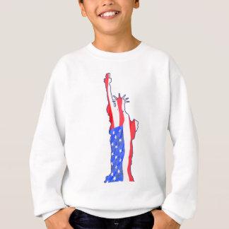 Statue of Liberty, stars stripes, red white blue T-shirt