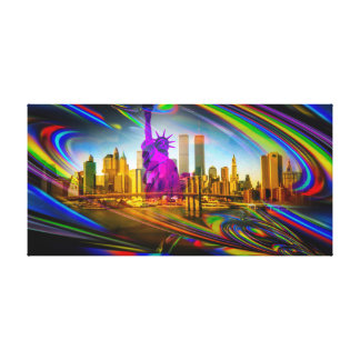 Statue of Liberty - statue OF Liberty - abstract Canvas Print