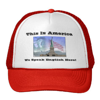 Statue-of-Liberty, This Is America, We Speak En... Cap