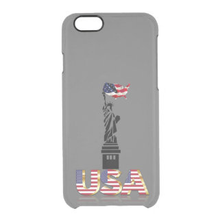 Statue of Liberty undulating flag Clear iPhone 6/6S Case