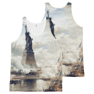 Statue of Liberty Unveiling 1886 All-Over Print Singlet