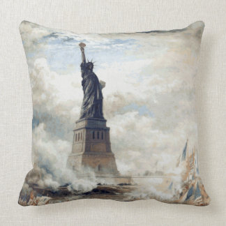 Statue of Liberty Unveiling 1886 Cushion
