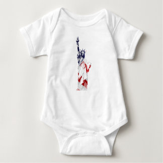 Statue of Liberty USA flag bodysuit