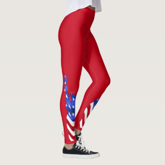 Statue of Liberty Usa Flag Red Legging