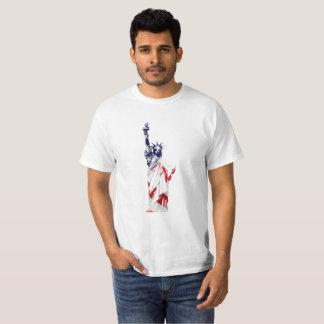 Statue of Liberty USA flag T-shirt