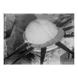 Statue of Liberty Vintage Top of Head from Torch Poster