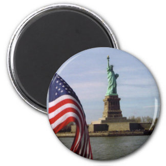 Statue of Liberty with American Flag Magnet
