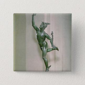 Statue of Mercury 15 Cm Square Badge