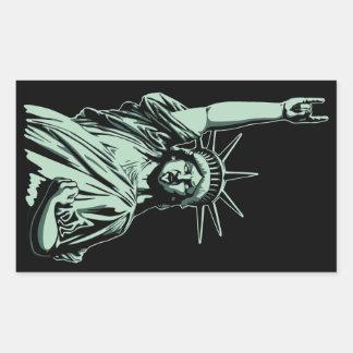 Statue of Metal Rectangular Sticker