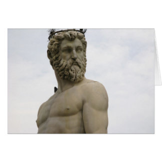 Statue Of Neptune Florence, Italy note card