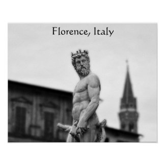 Statue of Neptune, Florence, Poster