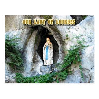 Statue of Our Lady of Lourdes, Lourdes, France Postcard