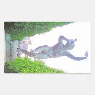 Statue of Pan, Luxembourg Garden, Paris France Rectangular Sticker