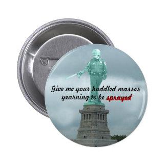 Statue of Pepper Spray Cop Buttons