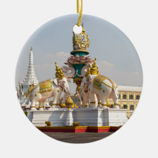 Statue of pink elephants Bangkok Thailand Ceramic Ornament