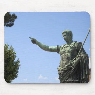 Statue of Roman emperor near the Roman Forum Mouse Pad