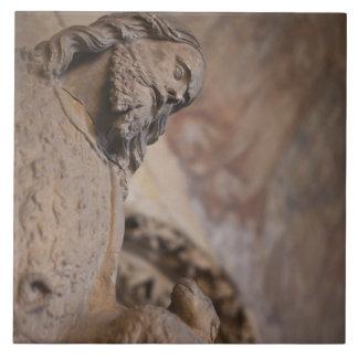 Statue of Saint John the Baptist Ceramic Tile