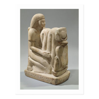 Statue of Setau presenting the cobra goddess Nekhb Postcard