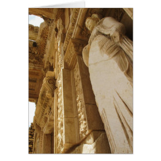 Statue of Sophia, Library of Celsus, Ephesus Card