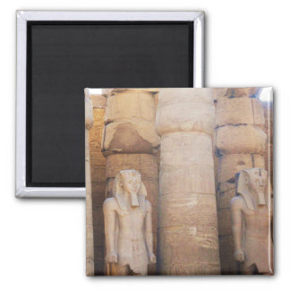 Statue of the Pharaoh Ramses II, Luxor Temple Square Magnet