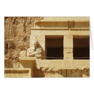 Statue of the queen Hatshepsut, Hatshepsut Temple, Card